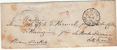Lettre ST-Pierre Martinique COL.FR.ANGL >> France 1858 Cover