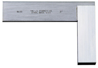 STARRETT No.55-3 NEW SQUARE BEVELED EDGE TOOLMAKER MACHINIST