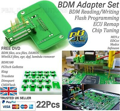 22pcs BMD Adapter for Ktag Kess KTM Trasdata DimSport Galletto BDM100 ECU files