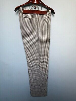 Vintage 1960's morning suit houndstooth sponge bags trousers size 34