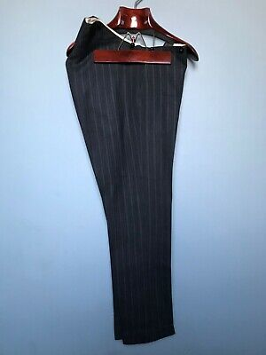 Vintage Edwardian flat fronted striped morning suit trousers size 40 long