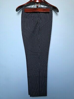 Vintage striped wool morning suit trousers size 34 short