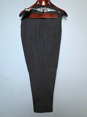 Vintage bespoke striped wool morning suit trousers size 36
