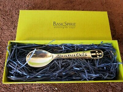 Bless This Child Baby Spoon Basic Spirit Handcrafted Pewter