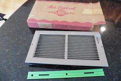 Air Control Inc 12x6 vent cover grate Old Stock vintage box