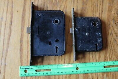 Mortise locks Lot of 2 Vintage Skeleton Key style door hardware Yale and Unknown