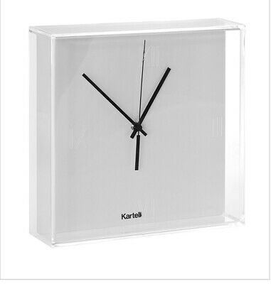 Kartell Clear Tick Tock Wall Clock Acrylic Brand New In Box