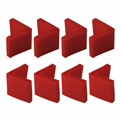 50mmx50mm Angle Fer Patin L Forme PVC Jambe Cap Plancher Protect Rouge 8pc