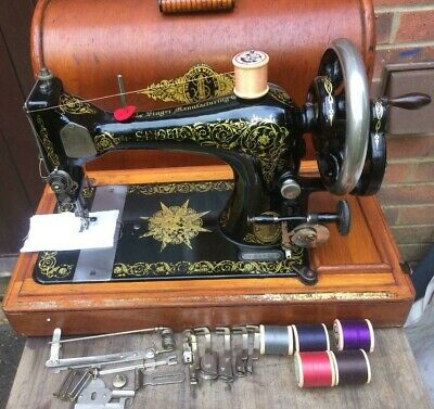 Antique SINGER 28K with Rare **INDIAN STAR** & Scrolls decals Sewing Machine