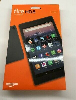 Amazon Fire HD 8 tablet (8th Generation) 16GB Wi-Fi 8in with Alexa - Black