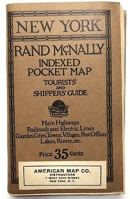 Rand McNally Co / Rand McNally Indexed Pocket map Tourists' and Shippers' 1925