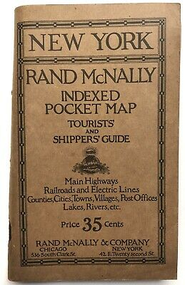 Rand McNally Co / Rand McNally Indexed Pocket map Tourists' and Shippers' 1920
