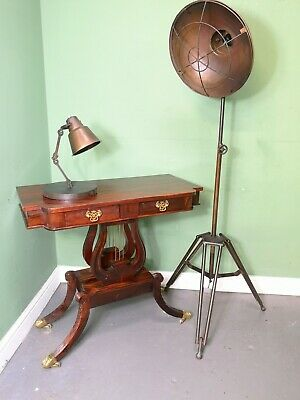 An Antique Regency Style Flame Mahogany Hall Lamp Table ~Delivery Available~