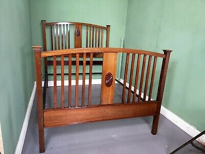 An Antique Early 20th Century Solid Mahogany Double Bed Frame ~Delivery Availabl