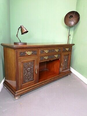 An Antique Victorian Solid Mahogany Green Man Sideboard ~Delivery Available~