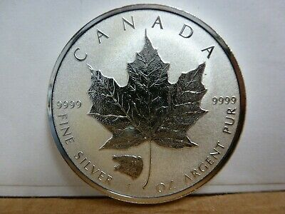 """2016 Canadian Maple Leaf """"Grizzly"""" Privy Reverse Proof 1oz .9999 Silver Coin"""