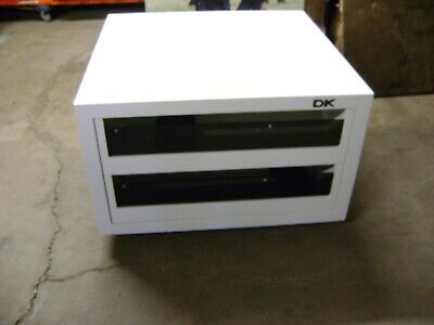 White Dkny Four Drawer  Pull Out Display Cabinet Table