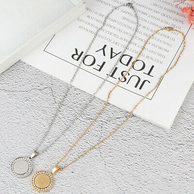 Men's Stainless Steel Rhinestone Bible Text Prayer Tag Pendant Necklace Chain JG