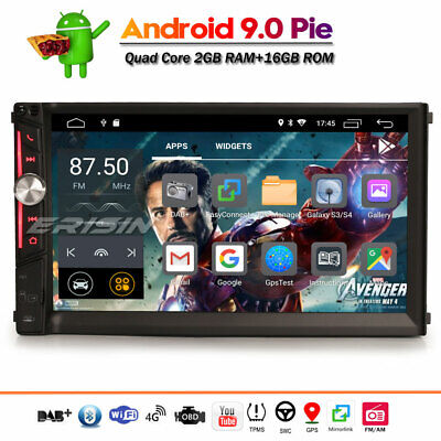 Android 9.0 double din DAB+ Car Stereo Sat Nav GPS Bluetooth WiFi OBD 4G DVR RDS