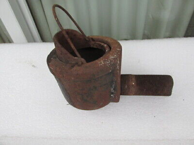 Antique Vintage  Cast Iron Farm Well Pump Water Diverter Cup - Complete