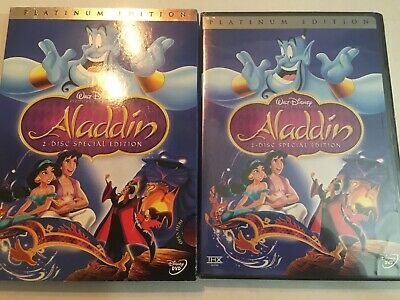 Aladdin (DVD 2004 2-Disc Set Special Edition) VERY RARE DISNEY NEW W Slip Cover