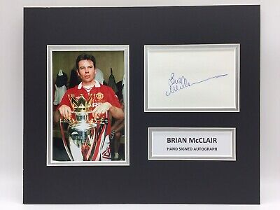RARE Brian McClair Manchester United Signed Photo Display + COA AUTOGRAPH