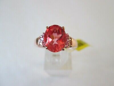 Living Coral Quartz Rose Gold over Sterling Silver Ring (Size 10) TGW 4.45 cts.