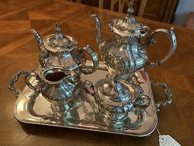 1954 Gorham Chantilly Silverplate Tea And Coffee Service