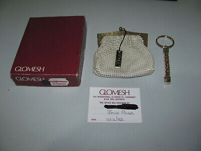 Vintage Glomesh Bone Purse With Box & Tag With Bonus Key Chain Looks Great