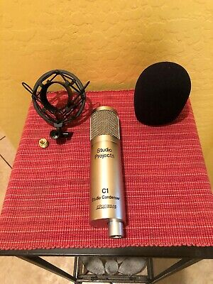 Studio Projects C1 Condenser Cable Professional Microphone. With Case.