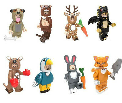 Cartoon Movie Animal Otter Sika Dragon Deer Kangaroo Rabbit Cat Building Blocks