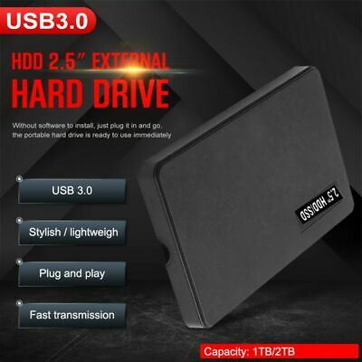 "2.5"" 500GB External Ultra Slim Hard Disk Drive USB3.0 Data Transfer Portable HDD"