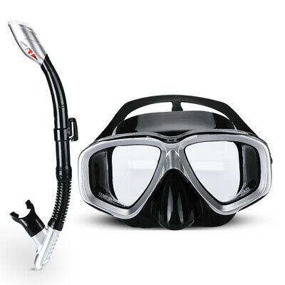 Dry Snorkel Set,Panoramic Wide View,Anti-Fog Scuba Diving Mask Snorkeling Gear