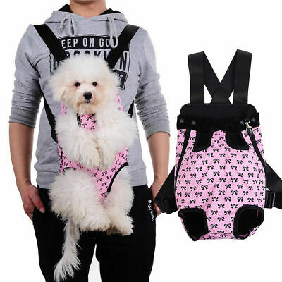 NEW US Small Pet Cat Puppy Dog Carrier Front Pack Hiking Backpack Head Legs Out
