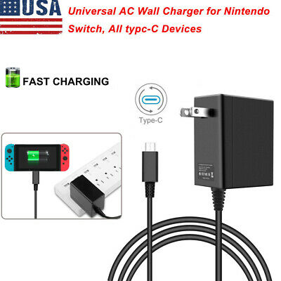 For Nintendo Switch Charger US Plug Chargering Cord AC Wall Adapter Power Supply