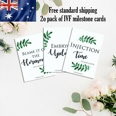 IVF fertility milestone A6 size 20 pack of cards funny cheeky wording gift