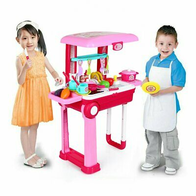 Portable Electronic Children Kids Kitchen Cooking Boy / Girl Toy Cooker Play Set