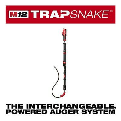 M12 Trap Snake 12Volt Lithium Ion Cordless 6Ft Toilet Cleaning Replaceable Cable