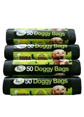 500 Extra Large Extra Thick Dog Poo Bags (10 rolls) Doggy Waste Strong Pet
