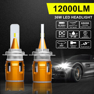 Autofeel 2X H7 LED Headlight Bulb Low Beam 6500K White Replace Halogen XENON HID