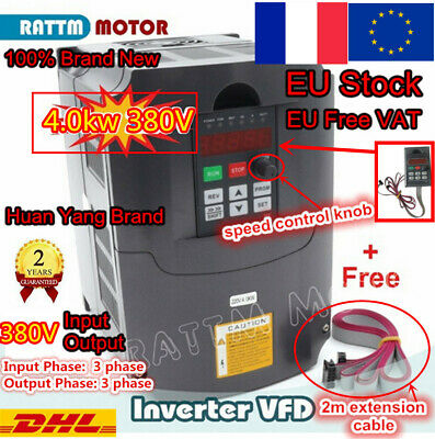 「FR」Variable Frequency Drive 4KW Inverter VFD 380V 3 Phase CNC Speed Control PWN