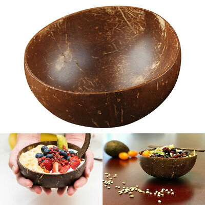 Eco-friendly Natural 100% Coconut Shell Bowl Salad  Dessert Tableware Handmade