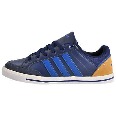 Adidas Neo Cacity Men's Classic Casual Leather Retro Trainers Navy