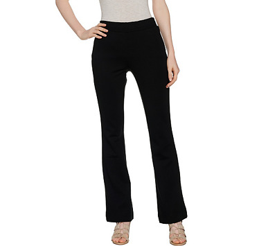Lisa Rinna Collection Regular Pull On Pants With Pockets Size 3X Black Color