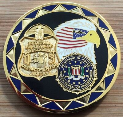 FBI - Federal Bureau of Investigation 9/11 commemorative EAGLE FC challenge coin