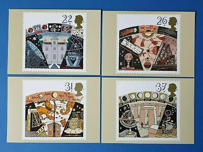 Set of 4 PHQ Stamp Postcard Set No.129 Astronomy 1990 + free gift BN7