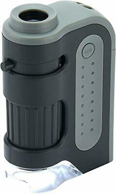 Lighted Pocket Microscope Carson MicroBrite Plus 60x-120x Power LED Handheld