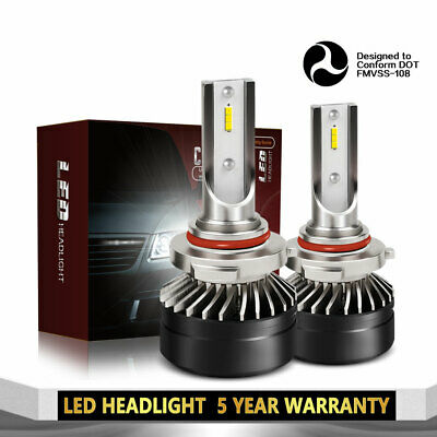 2x 9006 HB4 LED Headlight DOT 12000LM Low Beam 6000K White Light Bulb Lamp DT65