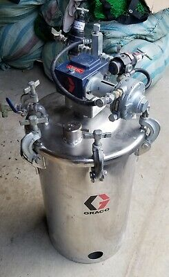 Graco 236150 10 Gallon High-Pressure Stainless Steel Tank/Pot w/181-794 Agitator