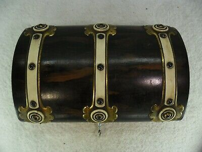 Lockable c1900 Brass Mounted Travelling Games Box